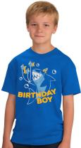 Birthday Boy Shark | Ocean Themed Shark & Fish B-Day Party Youth T-Shirt
