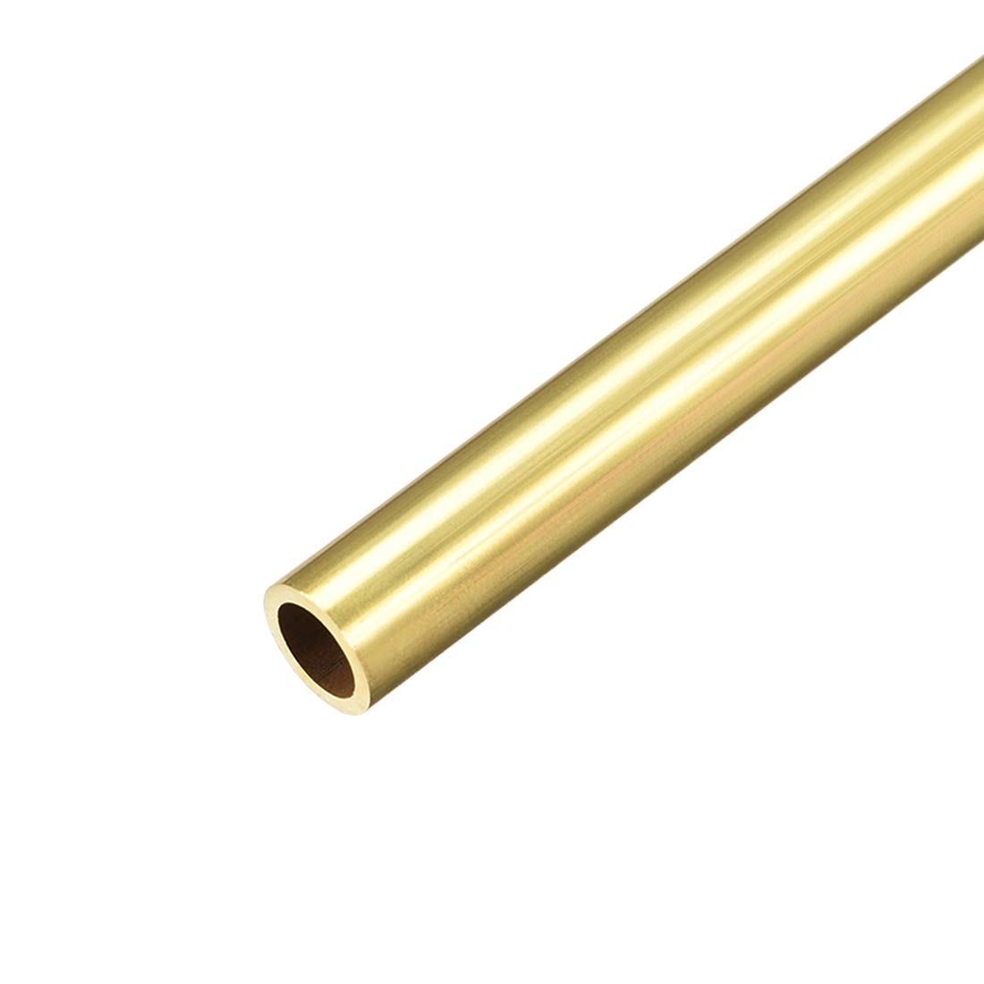 uxcell Brass Round Tube, 300mm Length 10mm OD 1mm Wall Thickness, Seamless Straight Pipe Tubing