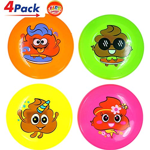 "JA-RU Mini Frisbee Throwing Disc Flyer 6"" (4 Units Assorted) Flying Discs for Kids & Adult Toys. Safe Easy and Professional. Plus 1 Bouncy Ball. 6439-4p"