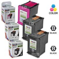 LD Remanufactured Ink Cartridge Replacement for HP 60 (2 Black, 1 Color, 3-Pack)