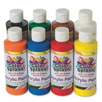 S&S Worldwide 8-oz. Color Splash! Acrylic Paint Assortment (Set of 8)