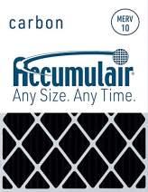 Accumulair Carbon 16x30x2 (15.5x29.5x1.75) MERV 8 Odor eliminating Air Filter/Furnace Filter (4 Pack)