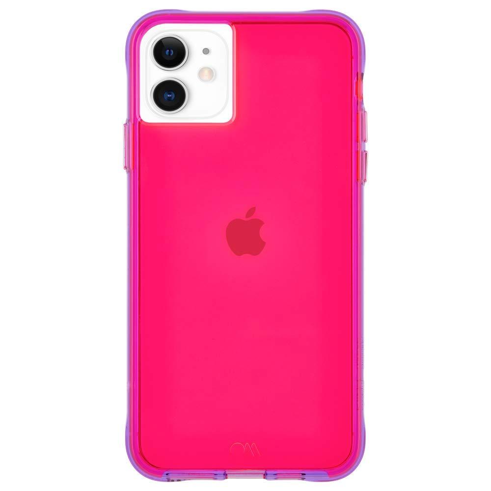 Case-Mate - iPhone 11 Case - Tough NEON - 6.1 - Pink/Purple Neon