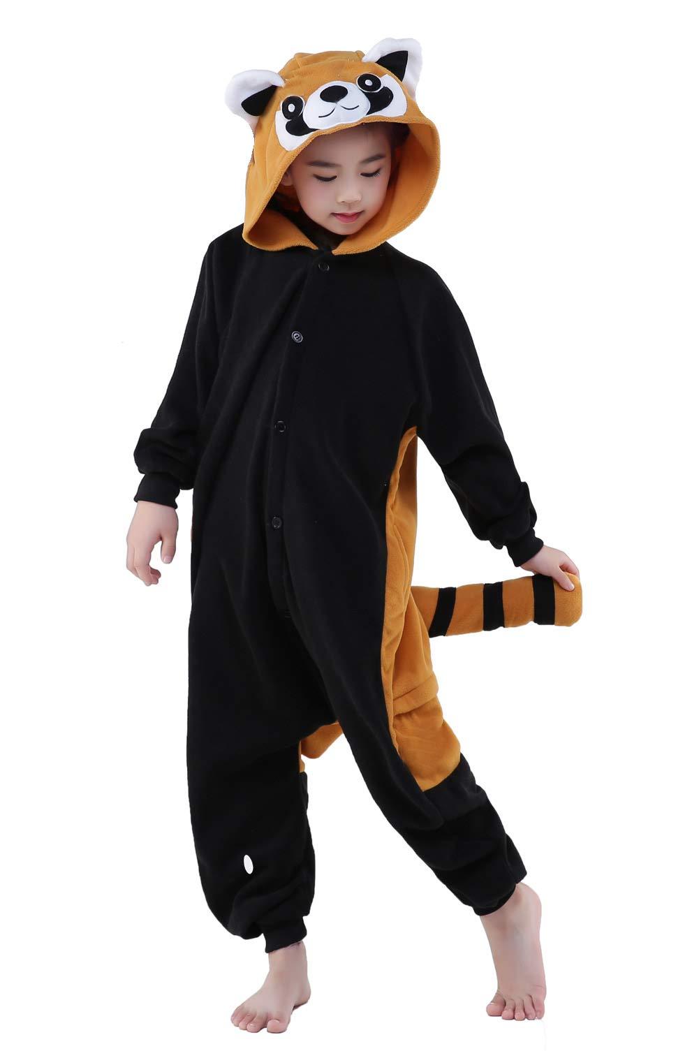 CANASOUR Kids Anime Red Panda Onesie Animal Unisex Children Pajamas