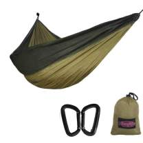funlife Parachute Camping Hammock-5 Size for Kid Adult-Kids Hammock Includes 2PCS Carabiners-Adult Hammocks Included 2 Aircraft Alum Carabiners
