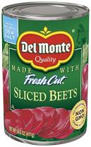 Del Monte Canned Fresh Cut Sliced Beets, 14.5 Ounce, Pack of 12