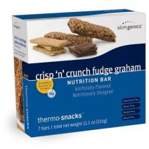 SlimGenics Thermo-Snacks ® |10g Protein - Alleviate Cravings, Increase Energy and Mental Focus, Enhance Weight Loss Results - Kosher Certified, 150 Calories - 7 Bars | Crunch Fudge
