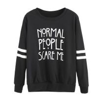 Keepfit Crew Sweatshirt Letter Printed, Long Sleeve Casual Pullover Top Blouse