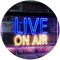 """ADVPRO On Air Live Recording Studio Video Room Dual Color LED Neon Sign Blue & Yellow 12"""" x 8.5"""" st6s32-i3064-by"""