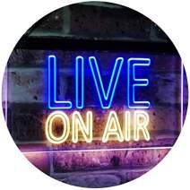 "ADVPRO On Air Live Recording Studio Video Room Dual Color LED Neon Sign Blue & Yellow 16"" x 12"" st6s43-i3064-by"