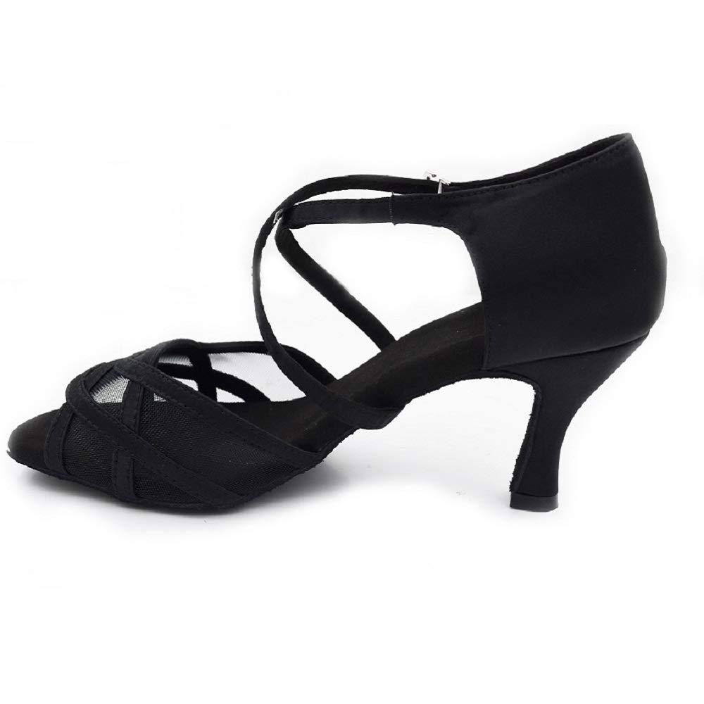 2018 Evkoo Dance Shoes Girls Satin Latin Ballroom Dancing Shoes 7cm Heel Ladies Latin Salsa Ballroom Latin Shoes for Women