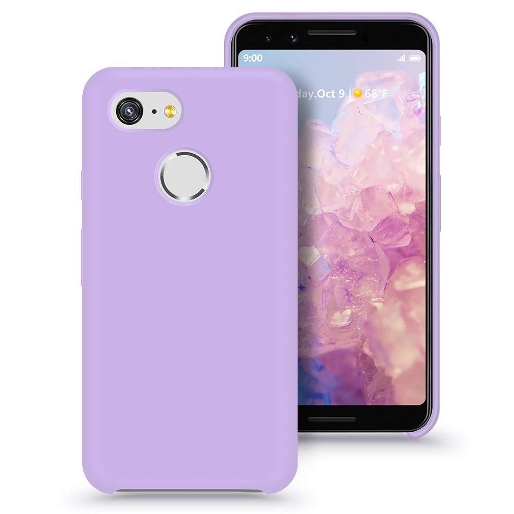 abitku Google Pixel 3 Case, Google Pixel 3 Slim Case, Silicone Gel Rubber Case Soft Microfiber Cloth Lining Cushion Compatible for Google Pixel 3 (Clove Purple, 5.5 inch)