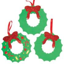 Baker Ross Foam Wreath Blanks — Creative Christmas Art and Craft Supplies for Kids to Make and Decorate (Pack of 6)