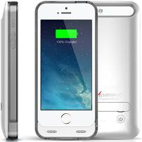 Alpatronix BX120 2400mAh Slim Battery Case Rechargeable Protective External Portable Charger Cover Compatible for iPhone 5, iPhone 5S & iPhone SE Juice Bank Power Pack Charging [MFi] - Silver