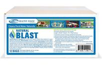 Healthy Ponds 11004 Natural Blast Pond Water Cleaner, 12 Water Soluble Packets; Each Packet Treats up to 125,000 Gallons for 7-10 Days