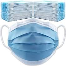 (500-Pack) Face Mask Bulk Face Masks Disposable Masks Bulk Masks - 10 Boxes (500 Masks) 3 Ply Blue Earloop Breathable Face Masks Bulk - Facemask Masks in Bulk Mask Tapabocas Disposable Face Mask Adult