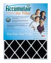 Accumulair 19x23x1 (Actual Size) Activated Charcoal Odor Eliminating Air Filters (4 Pack)