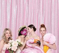 Sequin Backdrop Pink Glitter Backdrop Sequin Background Curtain Photography Backdrop Cloth 7FT x 7FT