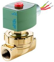 """ASCO 8220G407 -120/60,110/50 Brass Body Hot Water and Steam Pilot Operated Diaphragm and Piston Valve, 50 psi Maximum Steam Operating Pressure, 3/4"""" Pipe Size, 2-Way Normally Closed, EPDM/PTFE Sealing"""