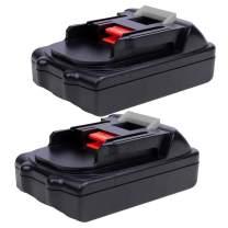 2Pack 2500mAh 18V BL1815 Battery for Makita Lithium ion Replacement BL1830B BL1850B BL1860B BL1840 BL1845 BL1820 LXT400 194204-5