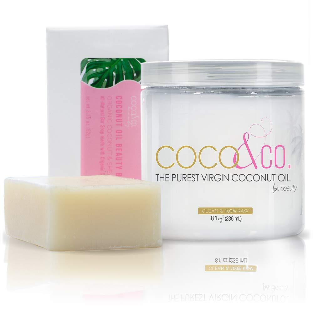 COCO & CO. Pure Coconut Oil Beauty Bar and Coconut oil Skincare Set