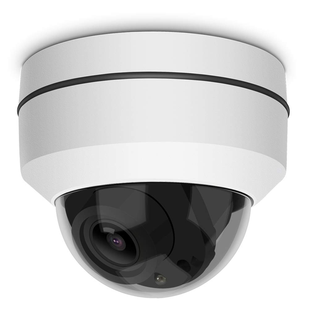 LEFTEK Security Camera PTZ IP POE 5.0 Mp 3X Zoom 65ft Night Vision Dome Camera with IP66 Waterproof Function