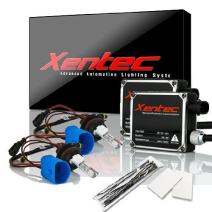 Xentec 9007 (HB5) Hi/Lo 10000K HID xenon bulb x 1 pair bundle with 2 x 35W Digital Ballast (Ocean Blue, high beam halogen)