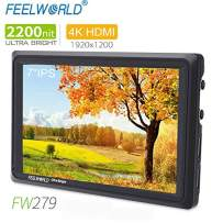 FEELWORLD FW279 7 Inch On Camera DSLR Field Monitor Full HD Focus Video Assist 1920x1200 IPS with 4K HDMI Input Output 2200nit High Brightness