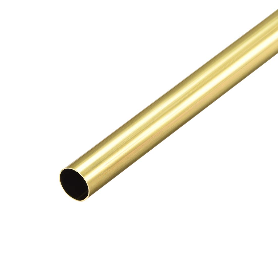 uxcell Brass Round Tube, 300mm Length 8mm OD 0.2mm Wall Thickness, Seamless Straight Pipe Tubing