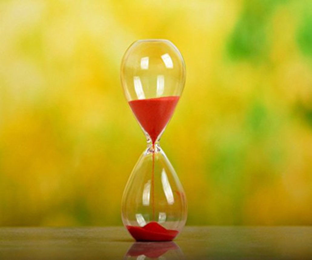 Large Fashion Colorful Sand Glass Sandglass Hourglass Timer Clear Smooth Glass Measures 60min 60 Minutes Home Desk Decor Xmas Birthday Gift (Red, 60 Minutes)
