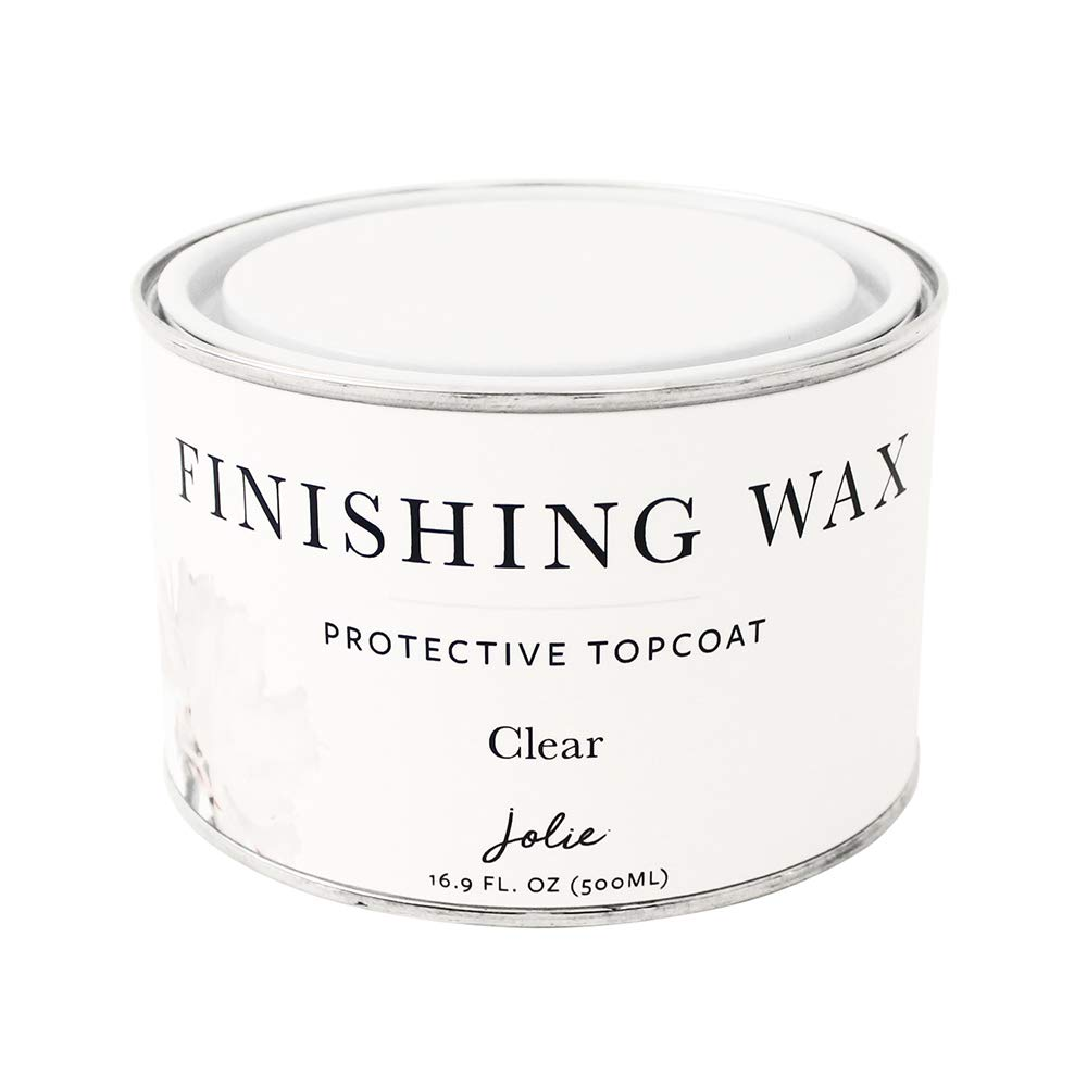 Jolie Finishing Wax - Protective Topcoat for Jolie Paint - Use on Interior Furniture, cabinets, Walls, Home Decor and Accessories - Odor-Free, Non-Hazardous - Clear - 500 ml