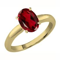 Dazzlingrock Collection 10K Gold 8X6 MM Oval Cut Garnet Ladies Solitaire Bridal Engagement Ring