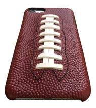 mcmadley Leather Football Phone Case with Lace for iPhone 7 / iPhone 8, Ultra Thin, Slim Fit, Protective Grip, Light Weight, Made with Real Pro Football Leather and Deerskin Lace