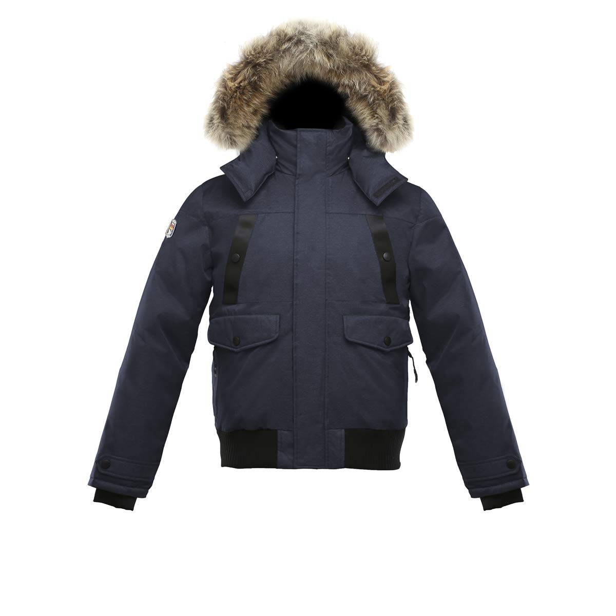 Triple F.A.T. Goose SAGA Collection   Norden Mens Hooded Goose Down Jacket Parka with Real Coyote Fur