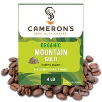 Cameron's Coffee Roasted Whole Bean Coffee, Organic Mountain Gold, 4 Pound