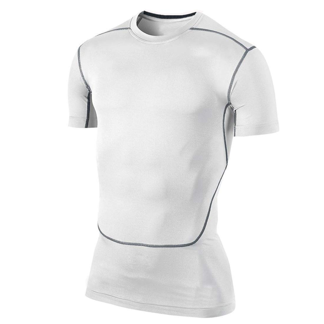Men's Compression Shirts Training Top Short Sleeve Cool Dry Base Layer Undershirts