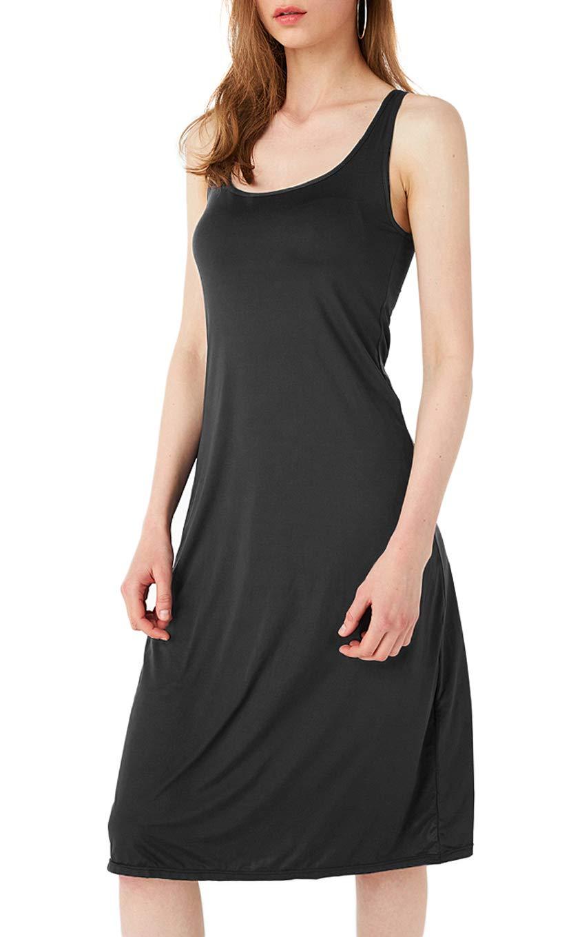 TAIPOVE Women's Nightgowns Sleepwear with Removable Padded Bra Sleep Dress Sleeveless Long Tank Chemise Loungewear