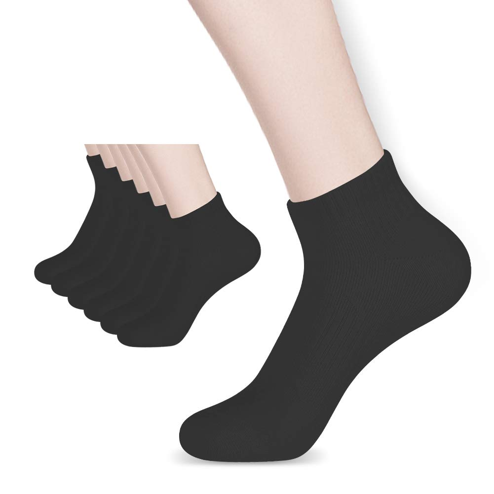 Athletic Socks for Men Women, Soft & Breathable Cotton Socks Ankle Socks for Running 6 Pairs Pack