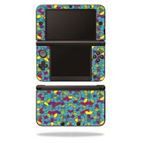 MightySkins Skin Compatible with Nintendo 3DS XL Original (2012-2014 Models) Sticker Wrap Skins Bright Stones