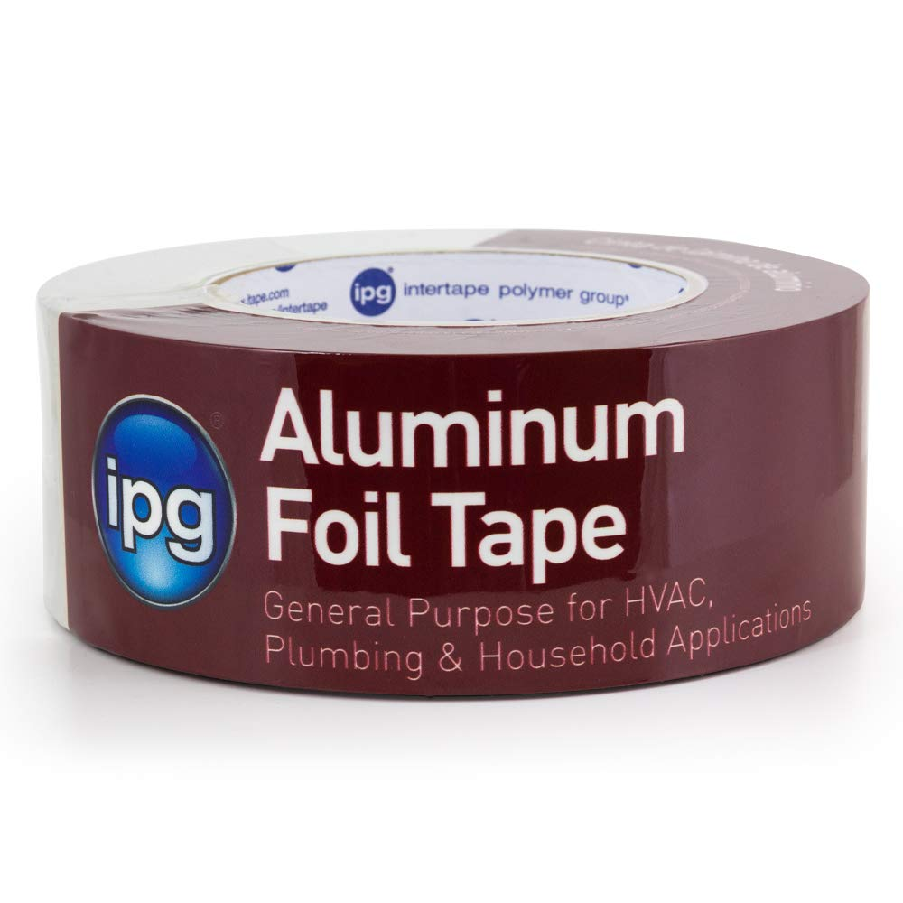 "IPG  Aluminum Foil Tape, 2"" x 50 yd, Silver (Single Roll)"