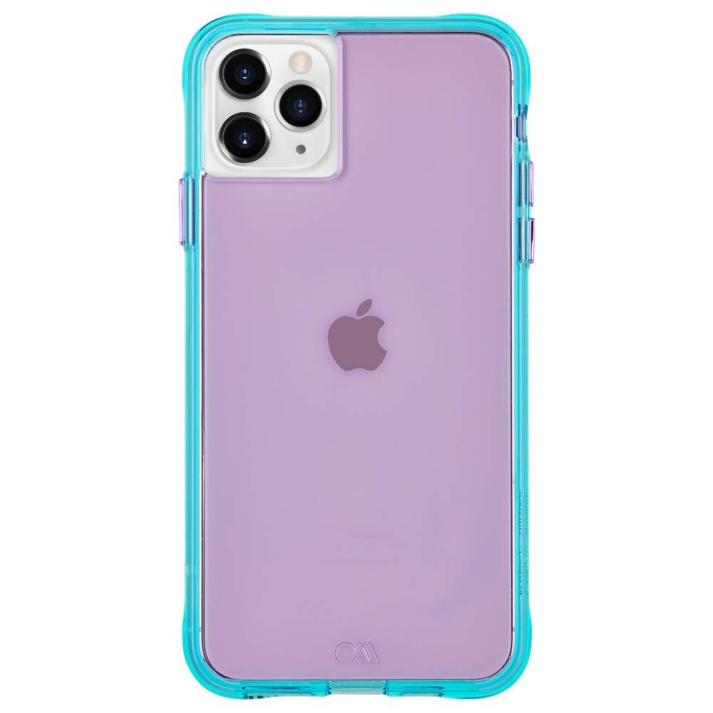 Case-Mate - iPhone 11 Pro Max Case - Tough NEON - 6.5 - Purple/Turquoise Neon (CM039404)