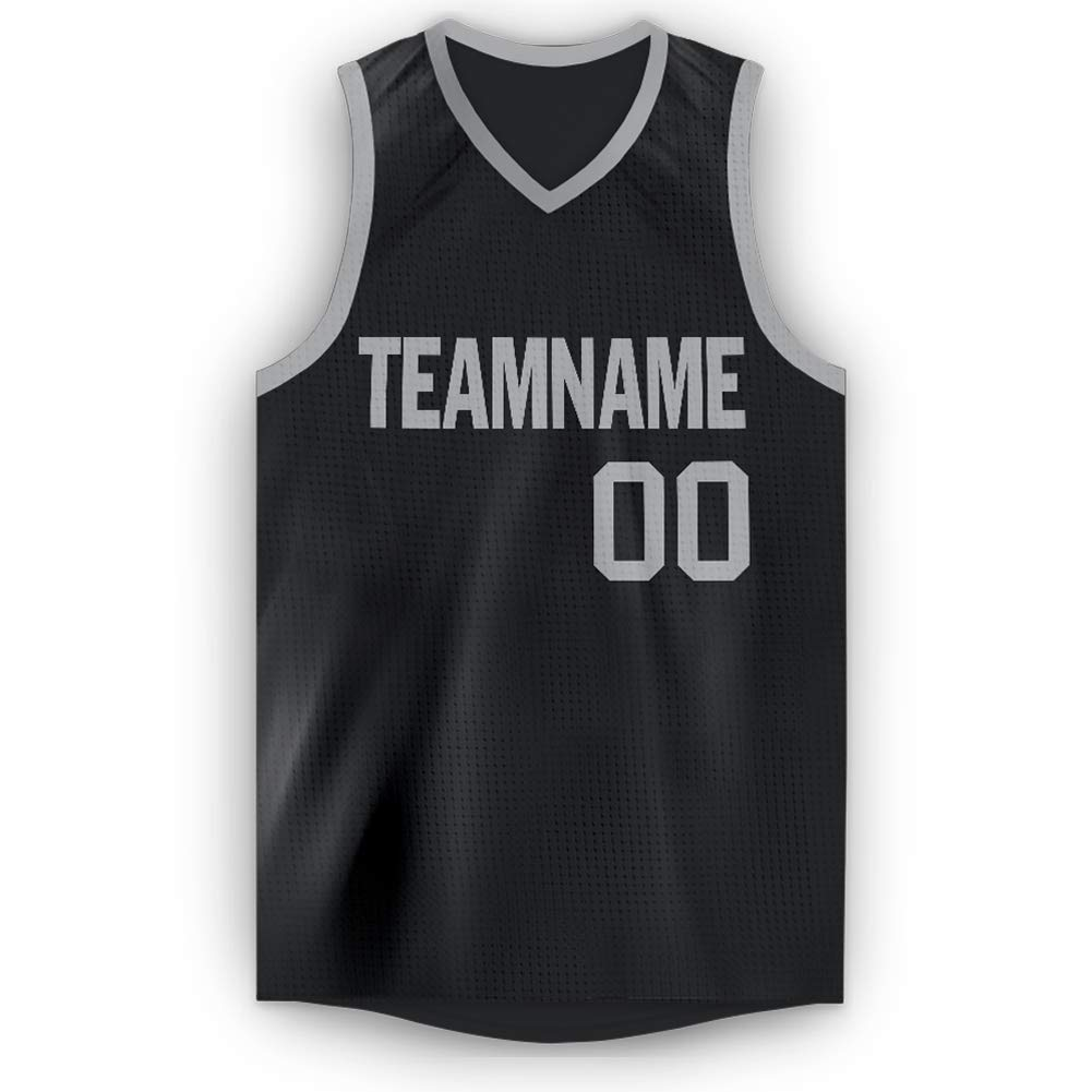 Custom Basketball Jerseys V-Neck Tank Tops Mesh Printed & Stitched Personalized Team Uniforms for Men/Women/Youth