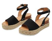 Ecolley Comfortable Sandals for Women for Walking Wide Open Toe Sandal Black Plain Size 37
