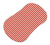SheetWorld Fitted Bassinet Sheet (Fits Halo Bassinet Swivel Sleeper) - Primary Red Gingham Woven - Made In USA