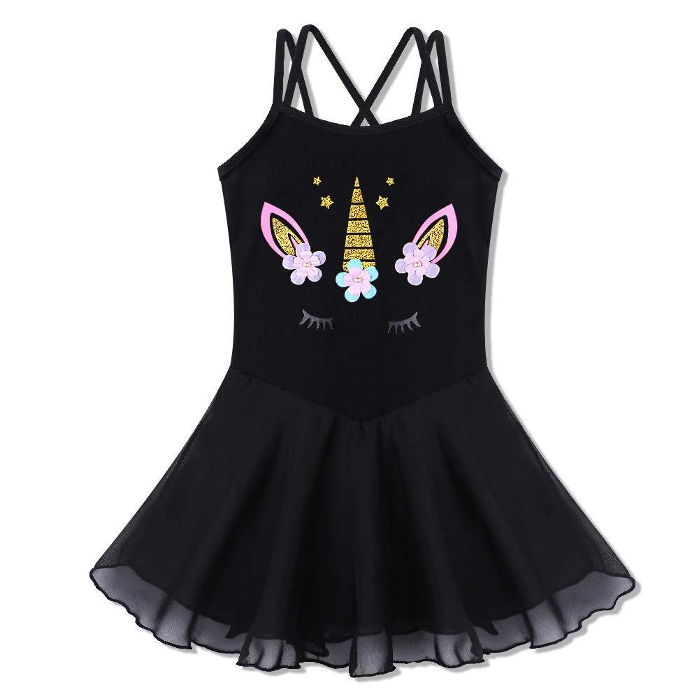 BAOHULU Girl's Skirted Leotards Camisole Cartoon Ballet Dance Tutu Dress