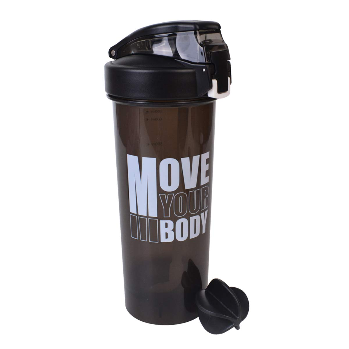 TECKE Sport Fitness Gym Water Shaker Bottle Camping Hiking Straw Water Bottle