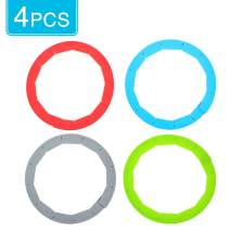 Silicone Pie Crust Shield,Adjustable Pie Crust Shield- Pie Shields for Baking Pie Fit 8 Inch to 11 Inch Diameter Pies Protector Shield (4Pcs,Red,Blue,Green,Grey)