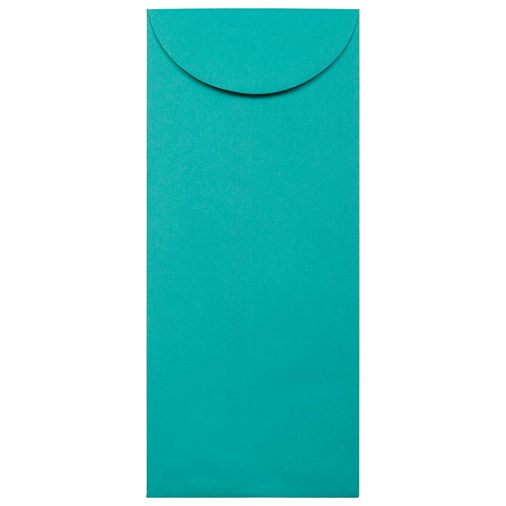 JAM PAPER #14 Policy Business Colored Envelopes - 5 x 11 1/2 - Sea Blue Recycled - 25/Pack