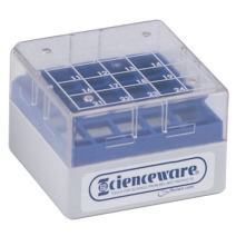 Bel-Art F18849-0000 Cryo-Safe Vial Storage Box; 25 Places, 1.2-2.0ml, Plastic, 3 x 3 x 2 in. (Pack of 8)