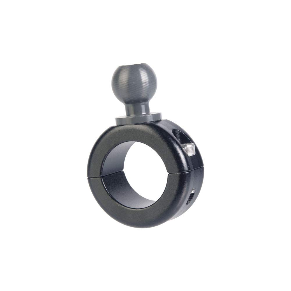 """Tackform Aluminum Bar Mount with 20mm Ball Connection. Fits 7/8"""", 1"""",1-1/8"""", 1.25"""" Bars with Included bushings Enduro Series"""